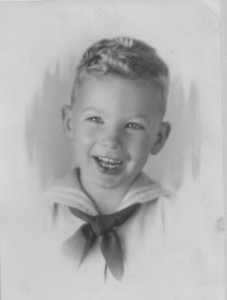Young sailor boy in the early 1930's.